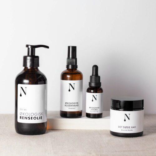 hudplejesæt fra naturligolie til fedtet hud