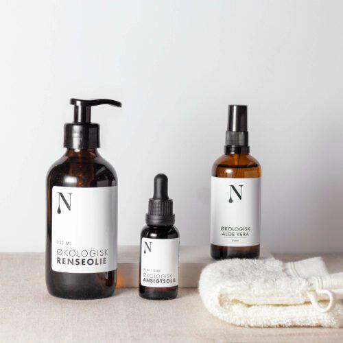 hudplejesæt fra naturligolie til sensitiv hud