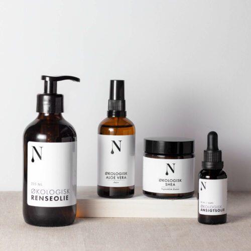 hudplejesæt fra naturligolie til tør hud